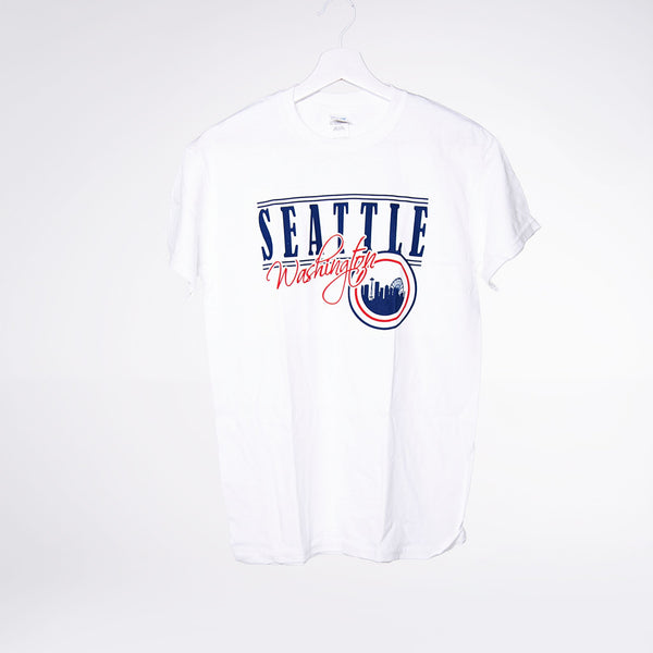 Circled Skyline Lights T-shirt - White
