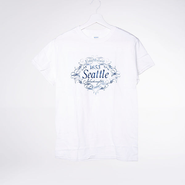 Scripted Seattle Lights T-shirt - White