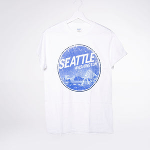 Stippled Mt. Lights T-shirt - White