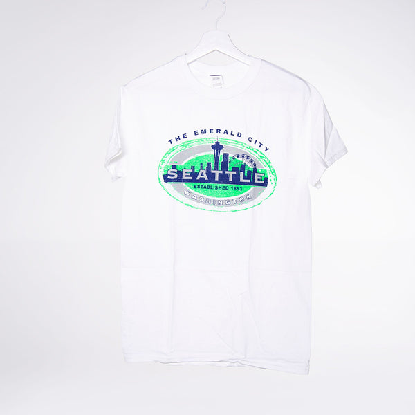 Oval Skyline Lights T-shirt - White