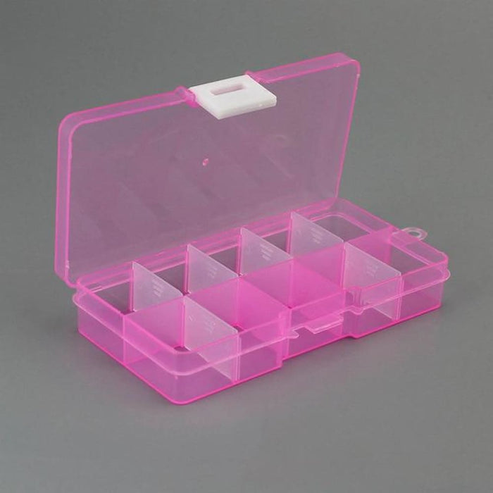 Desktop Organization & Drawer Organizers 10 Grids Adjustable Transparent Plastic Storage Box for Small Component Jewelry Tool Box Bead Pills Organizer Nail Art Tip Case