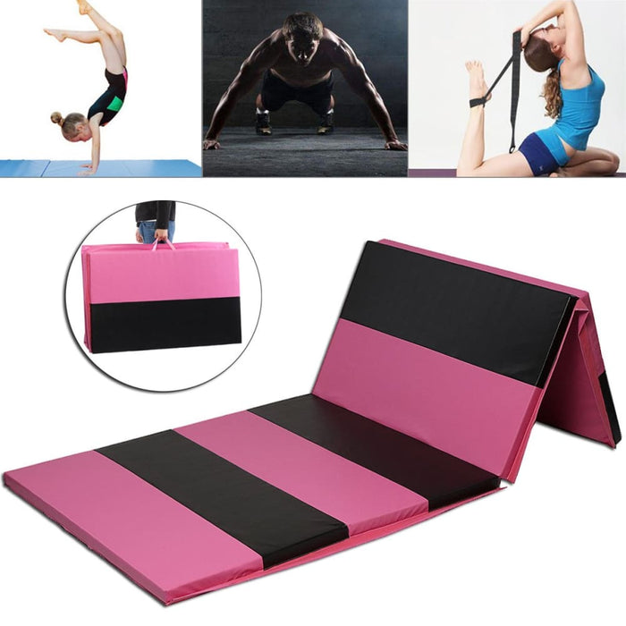 Workout Room Titles 10FT Folding Gymnastics Floor Mat Yoga Exercise Aerobics Fitness Pilates Gym