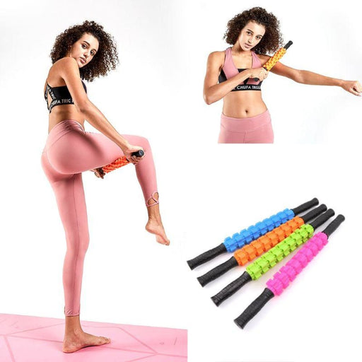 Yoga Rollers 1pc Fitness Yoga Massage Roller Muscle Relax Pain Relief Gear Stick Portable Therapy