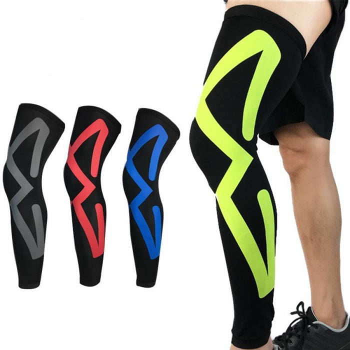 Compression Leg 1PC Outdoor Sports Safety Leg Warmers Breathable 2018 NEW Cycling Running Basketball Compression Leg Knee Pads Sleeves Legwarmer