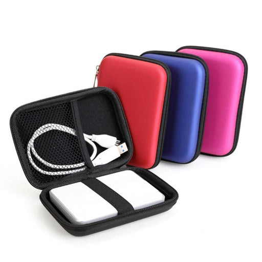 "External Hard Drive 2.5"" HDD Bag External USB Hard Drive Disk Carry Mini Usb Cable Case Cover Pouch Earphone Bag for PC Laptop Hard Disk Case New"
