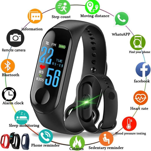 Sleep Monitoring 2018 New Sport Waterproof Smart Bracelet Blood Pressure Monitor Smart band Fitness Tracker Pedometer Smart Wristband PK mi band