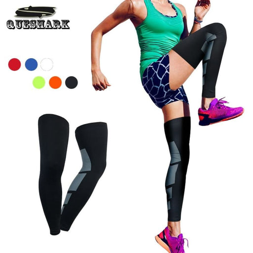 Compression Leg 2Pcs Outdoor Sports Leg Warmers Cycling Leg Sleeve Long Knee Support Protector Gear Crashproof Antislip Compression Calf Sleeve