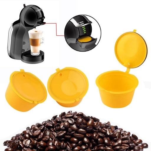 Coffee 3 Pcs/Set Reusable Capsule Cup Coffee Filter Baskets Kitchen Refillable Professional Pods Machines Filter Cups Tool