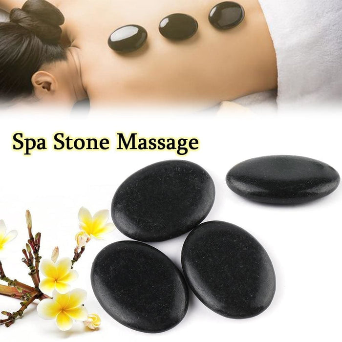3/6Pcs Women Men Hot Spa Rock Lava Basalt Stone Basalt Comfortable Therapy Stones Body Beauty Care - Earth Stones