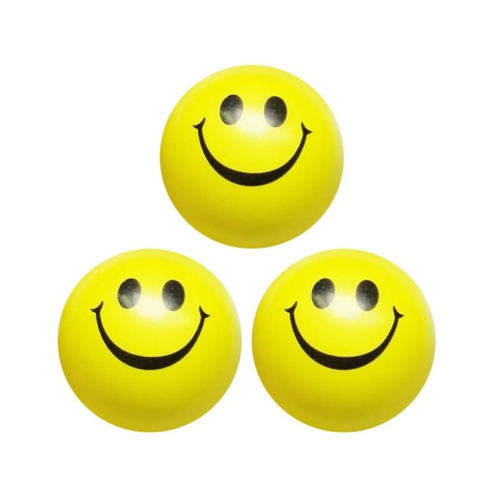 3Pcs Smiley Face Squeeze Ball Novelty Hand Play Toy Stress Reliever Rehabilitation Training Ball For Children Adult Stress Relief - Stress