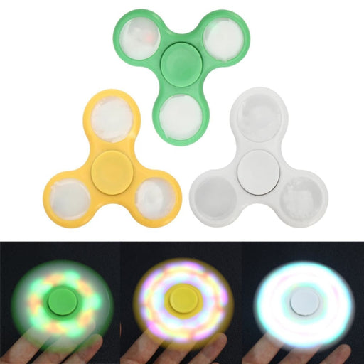 3Pcs/lot Led Light Tri Fidget Hand Spinner Finger Spiral Bearing Adult Kids Toy - Stress Relief Toys