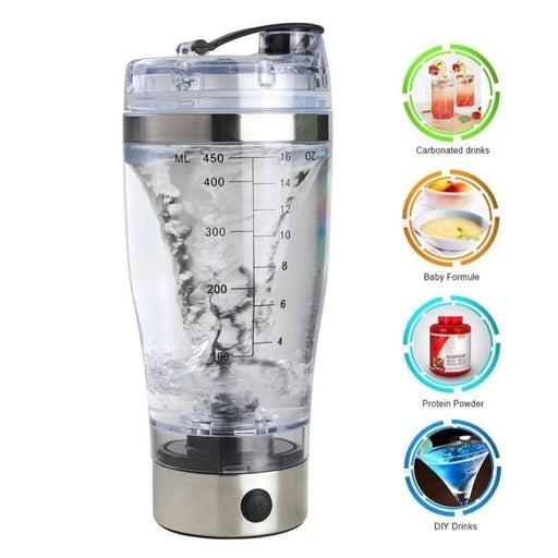 450Ml Electric Protein Shaker Bottle Electric Vortex Mixer Cup Portable Drink Water Drinkware - Shaker Cups