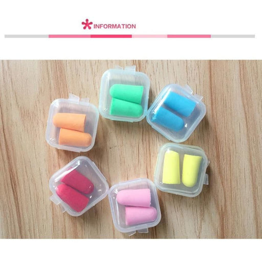 5Pairs Comfort Earplugs Noise Reduction Foam Soft Ear Plugs Box-Packed Earplugs Protective For Sleep Slow Rebound Earplugs - Ear Plugs &