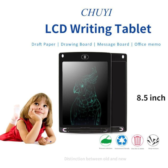 8.5 Inch Portable Smart Lcd Writing Tablet Electronic Notepad Drawing Graphics Tablet Board With Stylus Pen With Cr2016 Battery - Writing