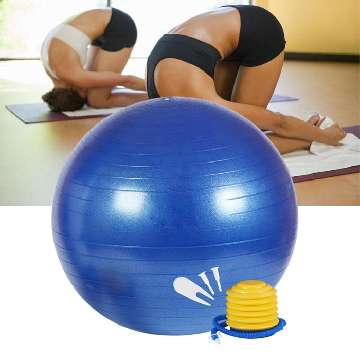 Yoga Ball 85cm Professional Exercise Anti Burst Stability and Yoga Ball for Fitness Balance Gym Workouts Pump Included