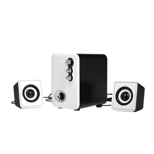 Computer Speakers A11 Wired Computer Speakers Mobile Speaker Box Mini Stereo Sound Speaker for Desktop Laptop Notebook Tablet PC Smart Phone with 3.5mm Audio and USB Jack