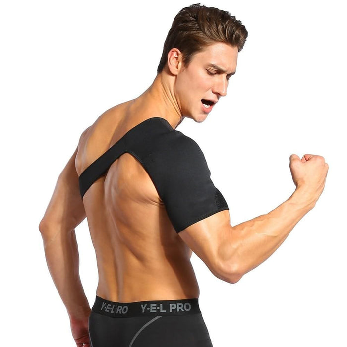 Compression Shoulder Adjustable Shoulder Support Brace Strap Sport Gym Compression Women&Men Black US