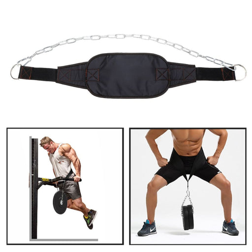 Strength Adjustable Weight Lifting Dip Belt Weighted Pull Ups and Body Building Fitness