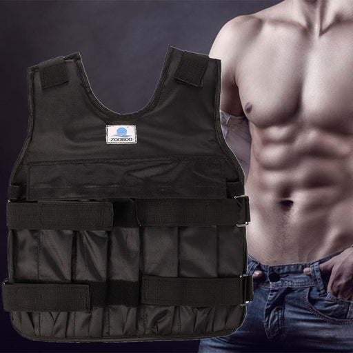 Strength Adjustable Weighted Vest Boxing Fitness Weight Training Workout Jacket 20kg/44LB