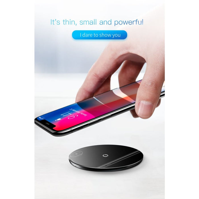 Wireless Charger Baseus 10W Qi Wireless Charger For iPhone X Xr Xs Max Glass Fast Wirless Wireless Charging Pad For Samsung Note 9 8 Doogee S60
