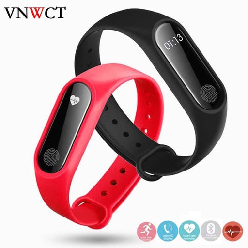 Brand Men&#39S Waterproof Ip67 M2 Watch+Watchbands Fitness Heart Rate Monitor Blood Pressure Pedometer Bluetooth Smart Wristban - Sleep