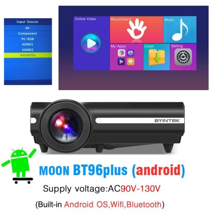 Byintek Bt96Plus Android Smart 1080P Projector - China / 110V 96Plus Android - Projectors