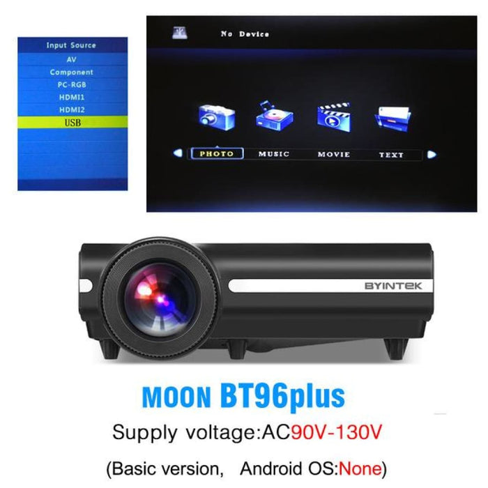 Byintek Bt96Plus Android Smart 1080P Projector - China / 110V Bt96Plus - Projectors