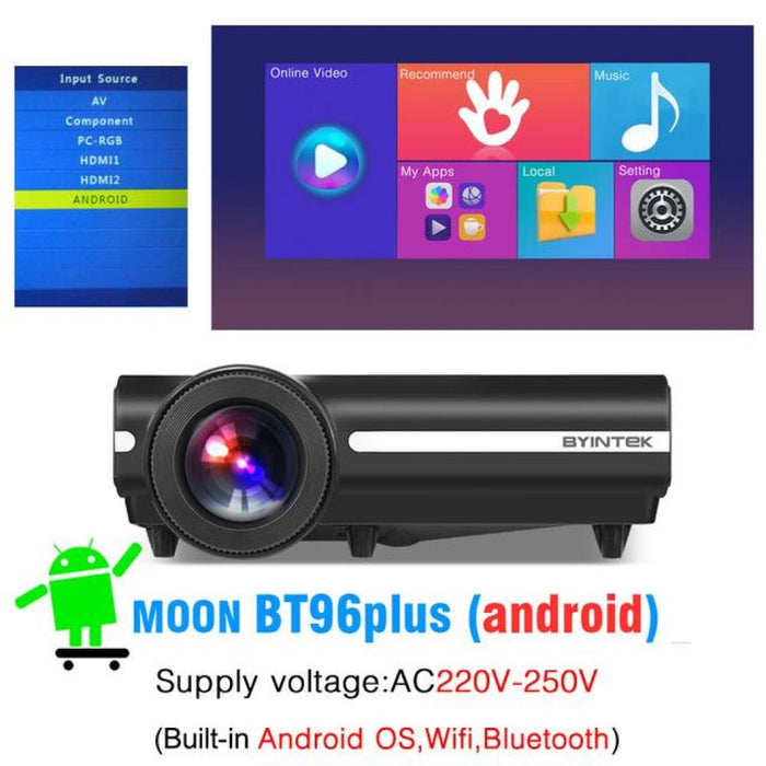 Byintek Bt96Plus Android Smart 1080P Projector - United States / 220V 96Plus Android - Projectors