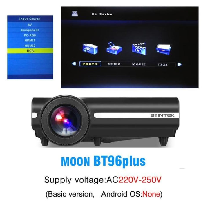 Byintek Bt96Plus Android Smart 1080P Projector - United States / 220V Bt96Plus - Projectors