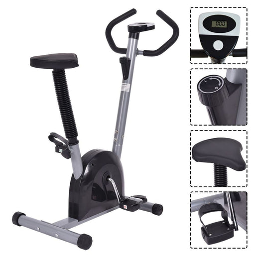 Stationary bikes Costway Exercise Bike Cardio Fitness Gym Cycling Machine Gym Workout Training Stationary