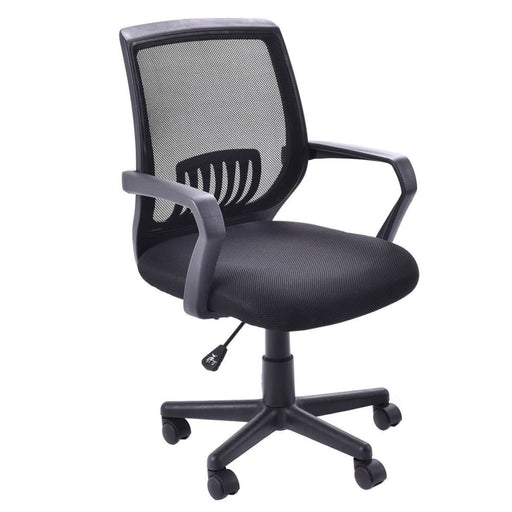 Office Chairs Costway Modern Ergonomic Mid-back Mesh Computer Office Chair Desk Task Task Swivel Black