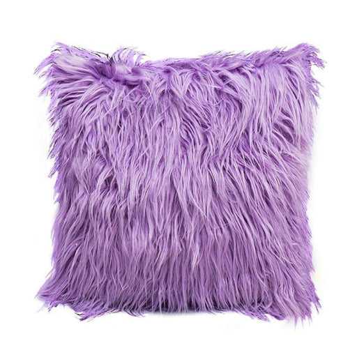 Deluxe Home Decorative Super Soft Plush Mongolian Faux Fur Throw Pillow Cover Winter Warm Pillowcases New - 1 / 450*450Mm - Home Decor