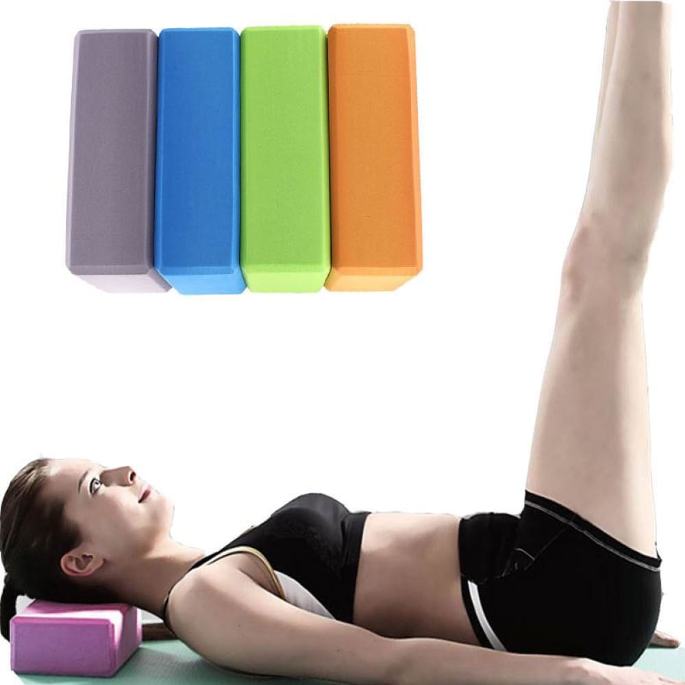 Yoga Rollers EVA Yoga Block Brick Sports Exercise Fitness Gym Workout Stretching