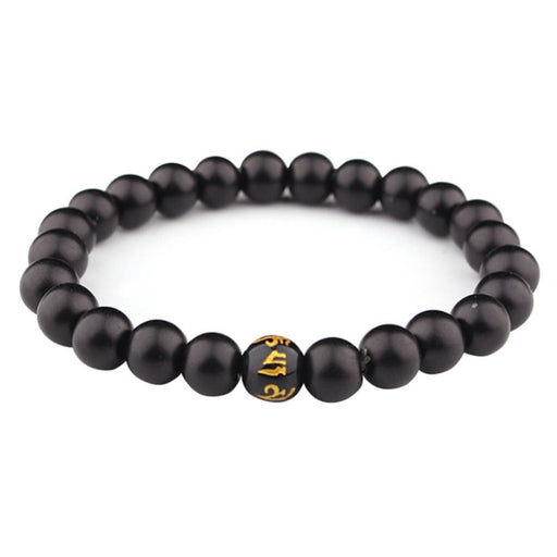 Bracelets Fashion Women Men Unisex Stone Beaded Prayer Buddha Yoga Meditation Stretch Bracelet Jewelry Gift
