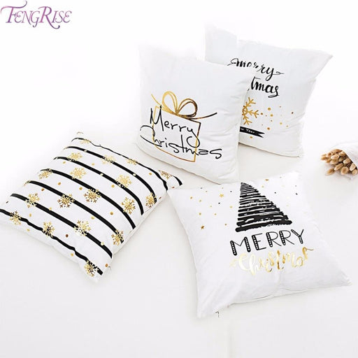 Fengrise Merry Christmas Pillow Case Christmas Ornaments Navidad Christmas Decoration For Home Happy New Year 2019 Xmas 2018 - Home Decor