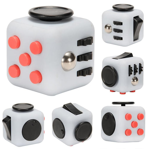Fidget Cube Toy Relieve Stress Anxiety And Boredom For Children And Adults Grey&red - Stress Relief Toys