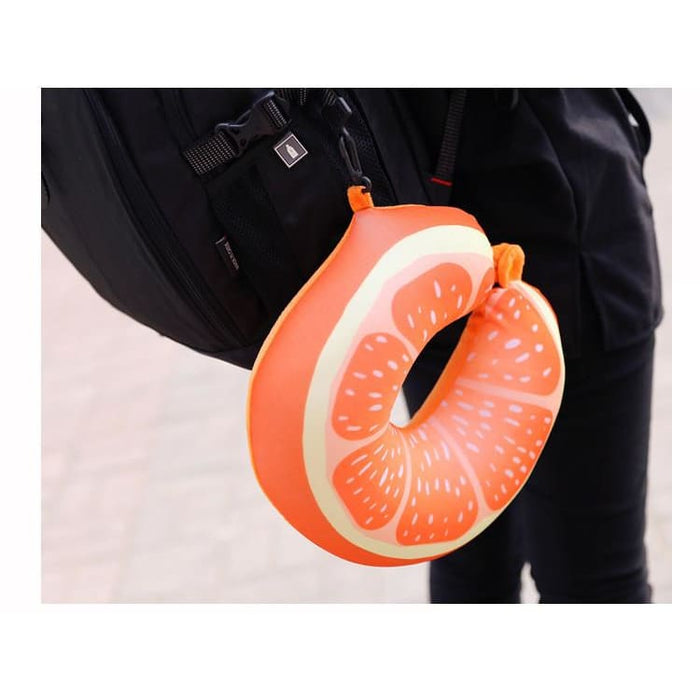 Travel Pillows Fruit U Shaped Pillow Car Travel Pillow Cushion Protection Neck Pillow for Travel Nanoparticles Massage Soft 3D Friut Cushion