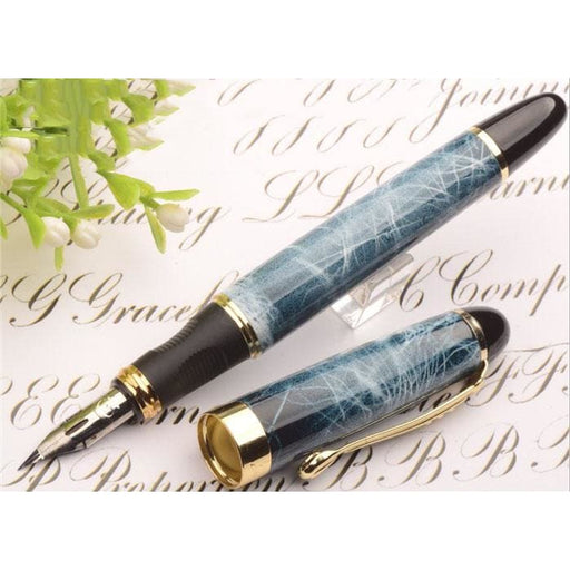 Fountain Pens High quality G NIB metal Modified Caneta calligraphy Round Body Flower body English Fountain Pen Stationery Substitute dip pen