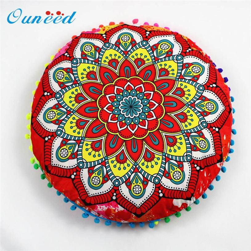 Mediation Pads Hippie Mandala Rund Cushion Cover Pompom Bohemian Tassel Paisley Throw Pillow Cover Meditation Cushion Decorative Pillows u70626