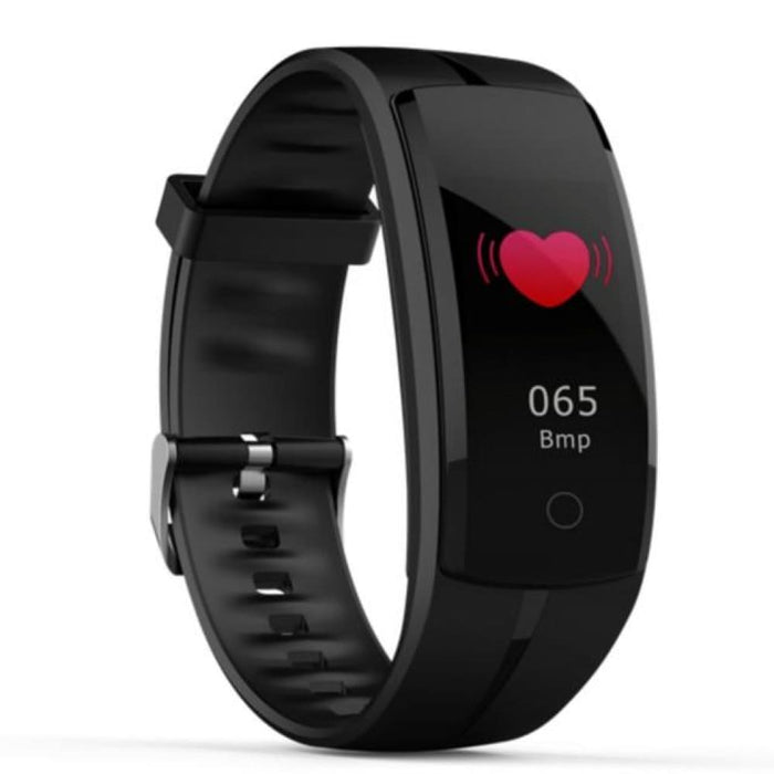 Hold Mi Qs100 Smart Bracelet Smart Watch Blood Pressure/heart Rate Monitor Fitness Tracker Bracelet Android Ios Smart Wristband - Black -