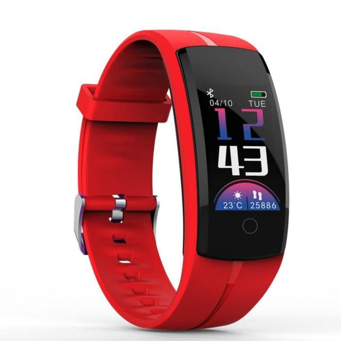 Hold Mi Qs100 Smart Bracelet Smart Watch Blood Pressure/heart Rate Monitor Fitness Tracker Bracelet Android Ios Smart Wristband - Red -