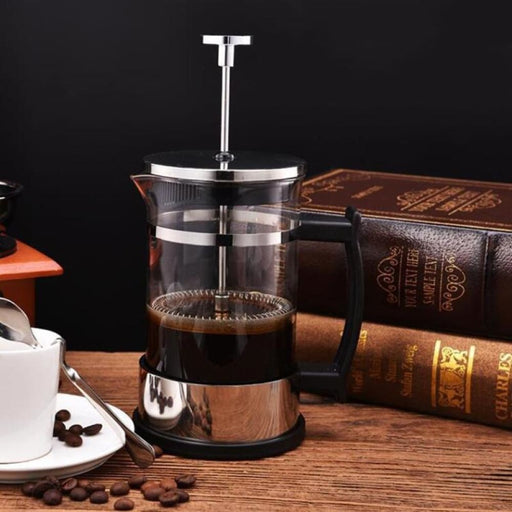 Household Coffee Maker Stainless Steel French Press Coffee Pot Filter 304 Pressure Moka Coffee Percolator Tool Teapot Brewer - Coffee