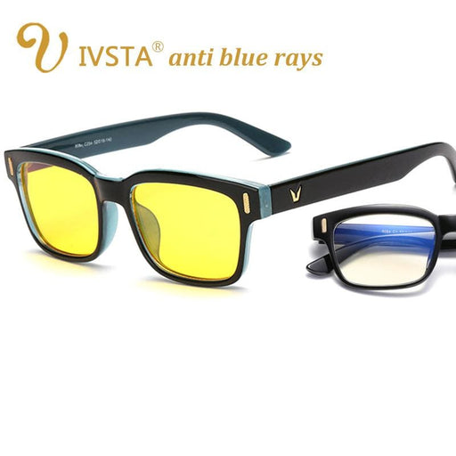 Blue Light Blocking Glasses IVSTA Anti Blue Rays Computer Glasses for Computer Protection Gaming Glasses UV400 Radiation Lighting Goggles Spectacles 8084