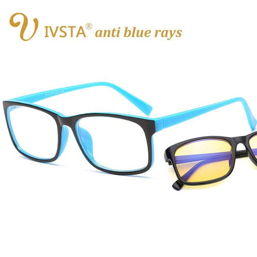 Blue Light Blocking Glasses IVSTA anti blue rays computer Glasses Men Blue Light Coating Gaming Glasses yellow lenses protection eye Retro Spectacles H012
