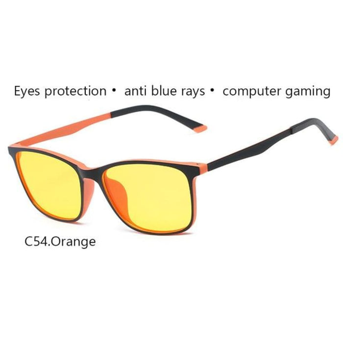 Ivsta Anti Blue Rays Gaming Glasses Men For Computer Phone Flexible Tr90 Orange Blue Super Light Thin Square Custom Grade Degree -