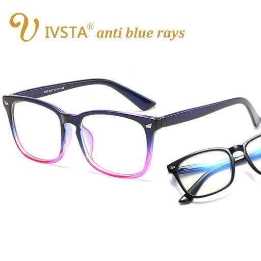 Ivsta Blue Light Glasses Women Optical Lenses Gaming Glasses Men Anti Blue Rays Computer Glasses For Computer Protection Frame - Blue Light