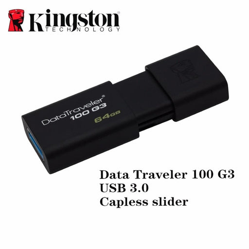Kingston Usb 3.0 Flash Pen Drive Pendrive Stick 16Gb 32Gb 64Gb 128Gb Brand Memoria Mini Usb Pen-Drive Caneta Memory Stick Drive - Usb Stick