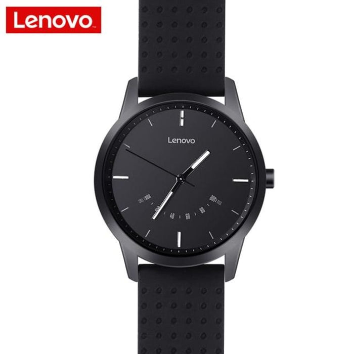 Lenovo Smart Watch Fashion Watch 9 Sapphire Glass Smartwatch 50 Meters Waterproof Heart Rate Monitor Calls Information Reminding - Black -
