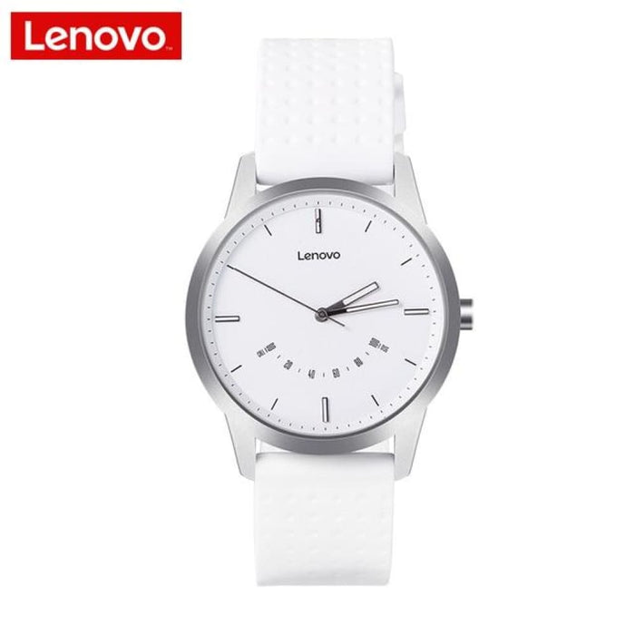 Lenovo Smart Watch Fashion Watch 9 Sapphire Glass Smartwatch 50 Meters Waterproof Heart Rate Monitor Calls Information Reminding - White -