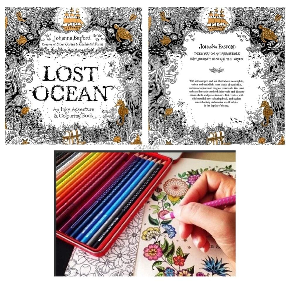 Lost Ocean Drawing Coloring Book Graffiti Books Adult Painting Children - Anti Anxiety Coloring Books